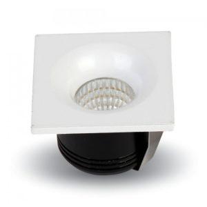 Φωτιστικό οροφής LED 3W τετράγωνο VTAC