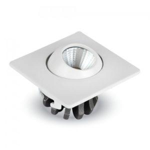 Φωτιστικό οροφής LED 3W τετράγωνο κινητό VTAC