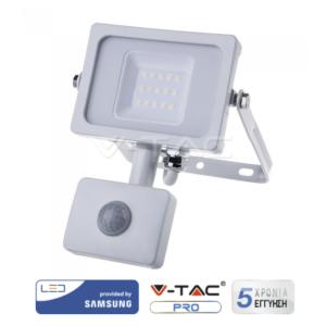 Προβολέας LED 10W με ανιχνευτή κίνησης VTAC SAMSUNG