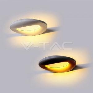 Απλίκα LED 10W ελλειπτική λευκή ή μαύρη VTAC