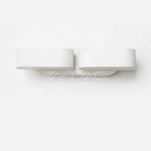 Απλίκα LED 12W περιστρεφόμενη διπλή λευκή VTAC
