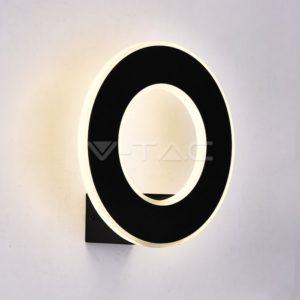 Απλίκα LED 9W δαχτυλίδι λευκή ή μαύρη VTAC