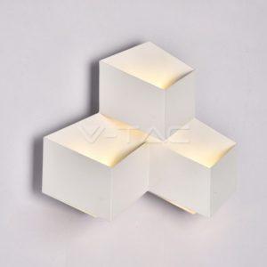 Απλίκα LED 9W κύβοι λευκή ή μαύρη VTAC