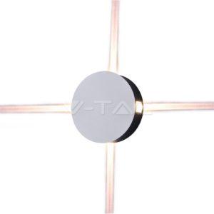 Απλίκα LED 4W κυκλική λευκή VTAC