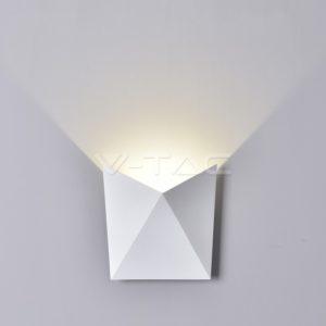 Απλίκα LED 5W πυραμίδα λευκή VTAC