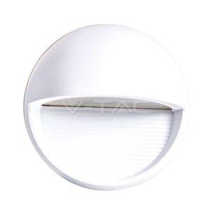 Επιτοίχιο φωτιστικό σκάλας LED 3W κυκλικό λευκό μαύρο γκρι VTAC
