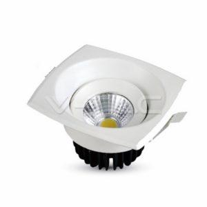 Φωτιστικό οροφής LED 8W τετράγωνο VTAC