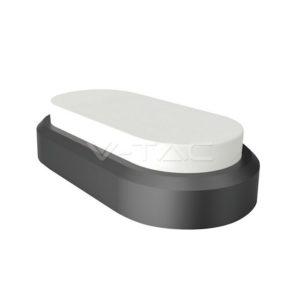 Πλαφονιέρα LED 8W οβάλ λευκή ή μαύρη VTAC