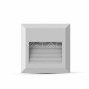 Επιτοίχιο φωτιστικό σκάλας LED 2W τετράγωνο λευκό μαύρο γκρι VTAC