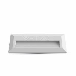 Επιτοίχιο φωτιστικό σκάλας LED 3W ορθογώνιο λευκό μαύρο γκρι VTAC