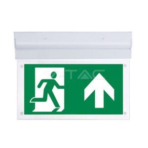 Φωτιστικό ασφαλείας LED 2W επιτοίχιο ή οροφής VTAC