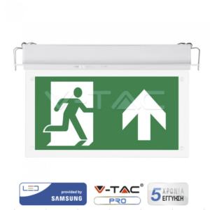Φωτιστικό ασφαλείας LED 2W χωνευτό VTAC Samsung