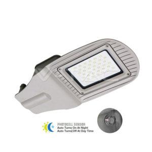 Φωτιστικό δρόμου LED 30W με αισθητήρα VTAC