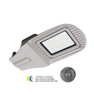 Φωτιστικό δρόμου LED 50W με αισθητήρα VTAC