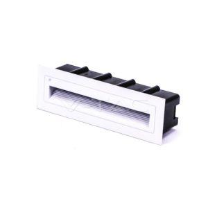 Φωτιστικό σκάλας LED 6W ορθογώνιο λευκό μαύρο γκρι χωνευτό VTAC