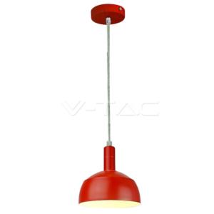 Κρεμαστό φωτιστικό αλουμίνιο κόκκινο VTAC