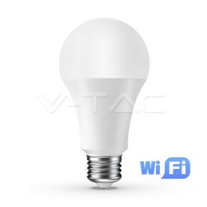 WiFi Λάμπα LED E27 A60 9W RGB+λευκό VTAC