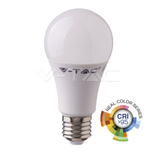 Λάμπα LED E27 10W A60 real color VTAC