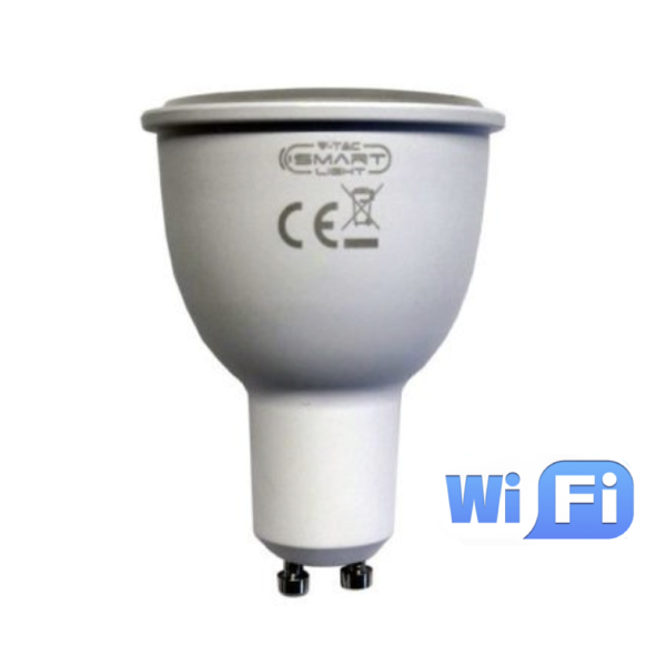 WiFi Σποτ LED GU10 4.5W RGB+λευκό VTAC
