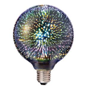 Λάμπα LED E27 G125 3W τρισδιάστατη VTAC