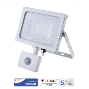 Προβολέας LED 20W με ανιχνευτή κίνησης VTAC SAMSUNG