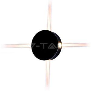 Απλίκα LED 4W κυκλική μαύρη VTAC