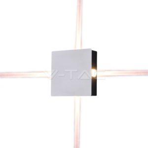 Απλίκα LED 4W τετράγωνη λευκή VTAC