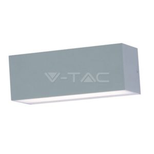 Απλίκα LED 12W γκρι αδιάβροχη VTAC
