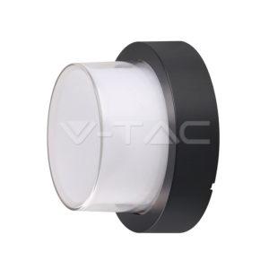 Απλίκα LED 12W κυκλική μαύρη IP65 VTAC
