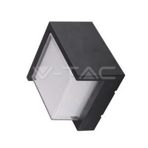 Απλίκα LED 12W τετράγωνη μαύρη αδιάβροχη VTAC