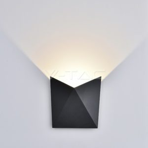 Απλίκα LED 5W πυραμίδα γκρι VTAC