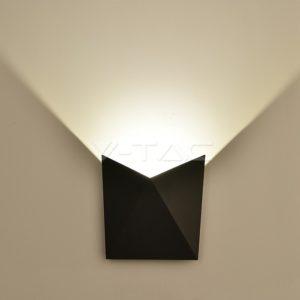 Απλίκα LED 5W πυραμίδα μαύρη VTAC
