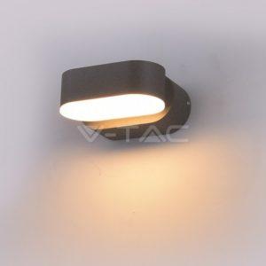 Απλίκα LED 6W περιστρεφόμενη γκρι VTAC