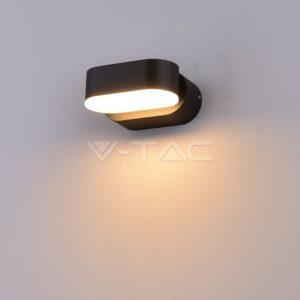 Απλίκα LED 6W περιστρεφόμενη μαύρη VTAC