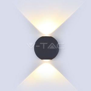 Απλίκα LED 6W σφαιρική updown μαύρη VTAC