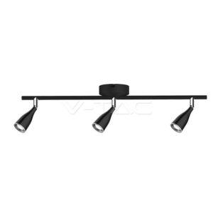 Φωτιστικό οροφής LED 13.5W τριπλό μαύρο VTAC