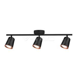 Φωτιστικό οροφής LED 18W τριπλό μαύρο VTAC