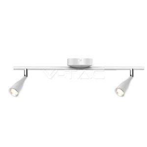 Φωτιστικό οροφής LED 9W διπλό λευκό VTAC