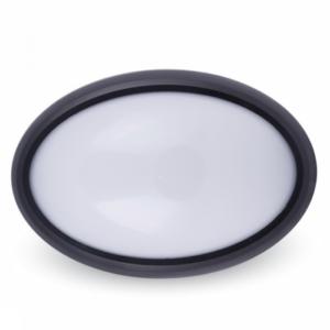 Πλαφονιέρα LED 12W οβάλ μαύρη ή λευκή VTAC