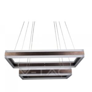 Πολύφωτο LED 115W καφέ ντιμαριζόμενο VTAC
