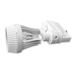 Σποτ ράγας GU10 τριφασικό λευκό VTAC