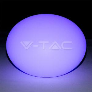 Φωτιστικό LED μπαταρίας RGB 1W IP65 οβάλ VTAC