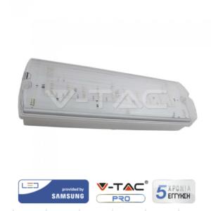 Φωτιστικό ασφαλείας LED 4W IP65 VTAC Samsung