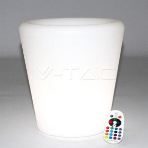Φωτιστικό LED μπαταρίας RGB 0.5W γλάστρα VTAC