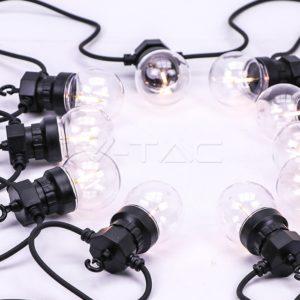 Γιρλάντα διάφανες LED 5m 3000Κ αδιάβροχη VTAC