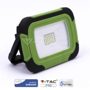 Προβολέας LED 20W επαναφορτιζόμενος VTAC SAMSUNG