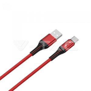 Καλώδιο USB type C 1m Gold τρία χρώματα VTAC