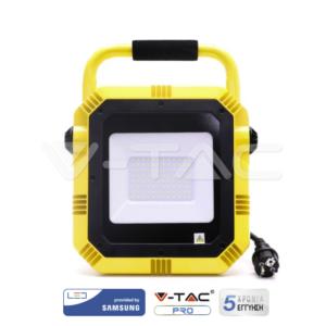Προβολέας LED 50W Φορητός VTAC SAMSUNG