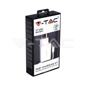 Ταχυφορτιστές TYPE-C ή MICRO USB VTAC