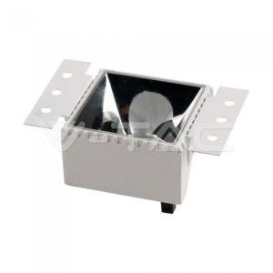 Τετράγωνη βάση GU10 λευκή χωνευτή VTAC